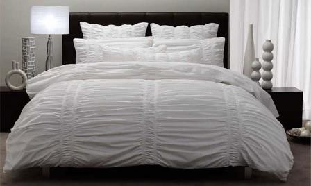 Bed Linen Quilt Doona Cover Sets Dominique White Single Do