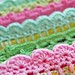 crochet trims on pillowcases...