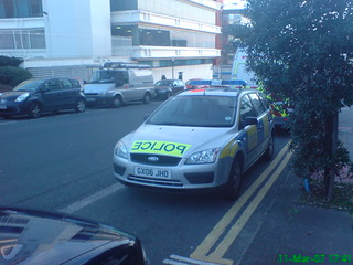 GX06JHO Sussex Police Ford Focus IRV Parked Up outside Brighton John Street Police Station | by Trojan631