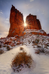 Arches NP, Winter Storm Clearing Sunburst | by kevin mcneal