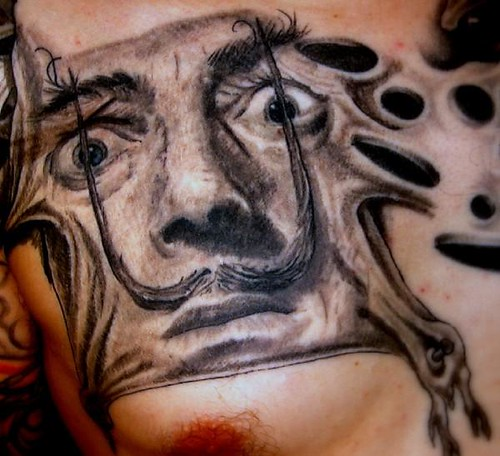 Salvador Dali Tattoo Dali Tattoo: Salvador Dali Portrait Tattoo