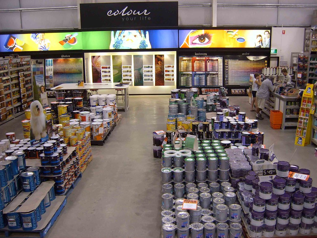 Beenleigh mitre 10 mega store interior paint shop flickr for Homedepot colorsmartbybehr com paintstore