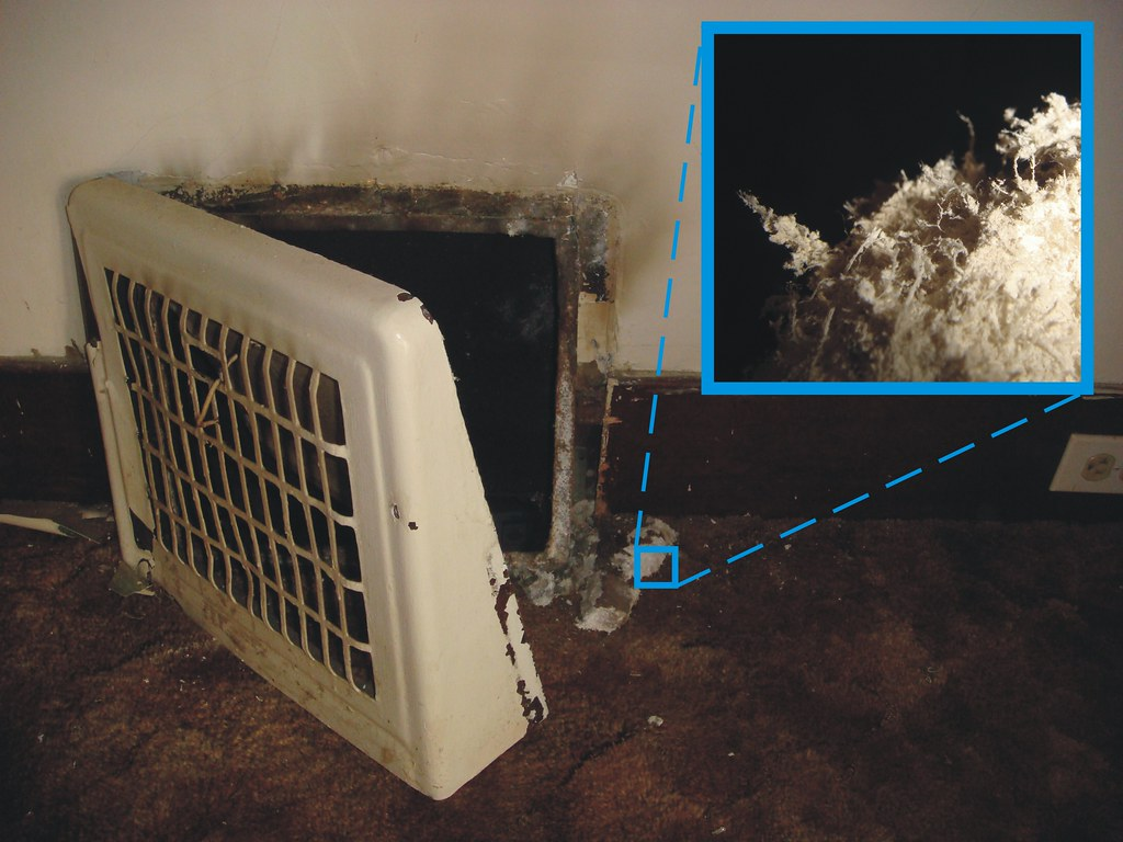 Baseboard Heat Register With Asbestos Insulation