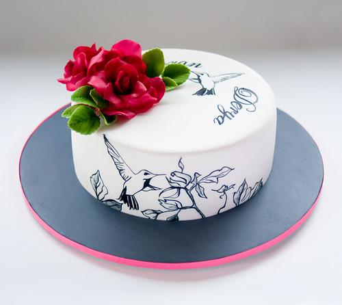 Hummingbird & Roses   Goran & Derya's Engagement Cake ...