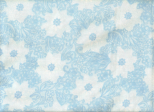 White Flowers on Blue Background Vintage Textile | Textile ...