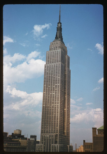... Empire State tower seen from Governor Clinton hotel New York City   by IMLS DCC