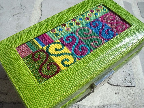 needlepoint jewelry box squiggles needlepoint canvas by