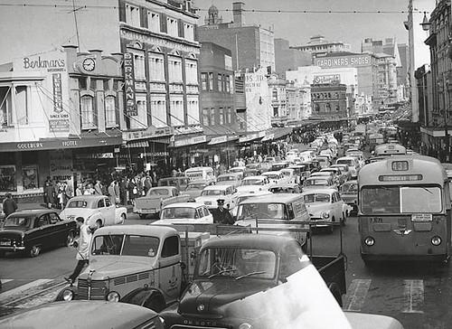 Sydney Traffic C 1960 George Street Sydney Dated C