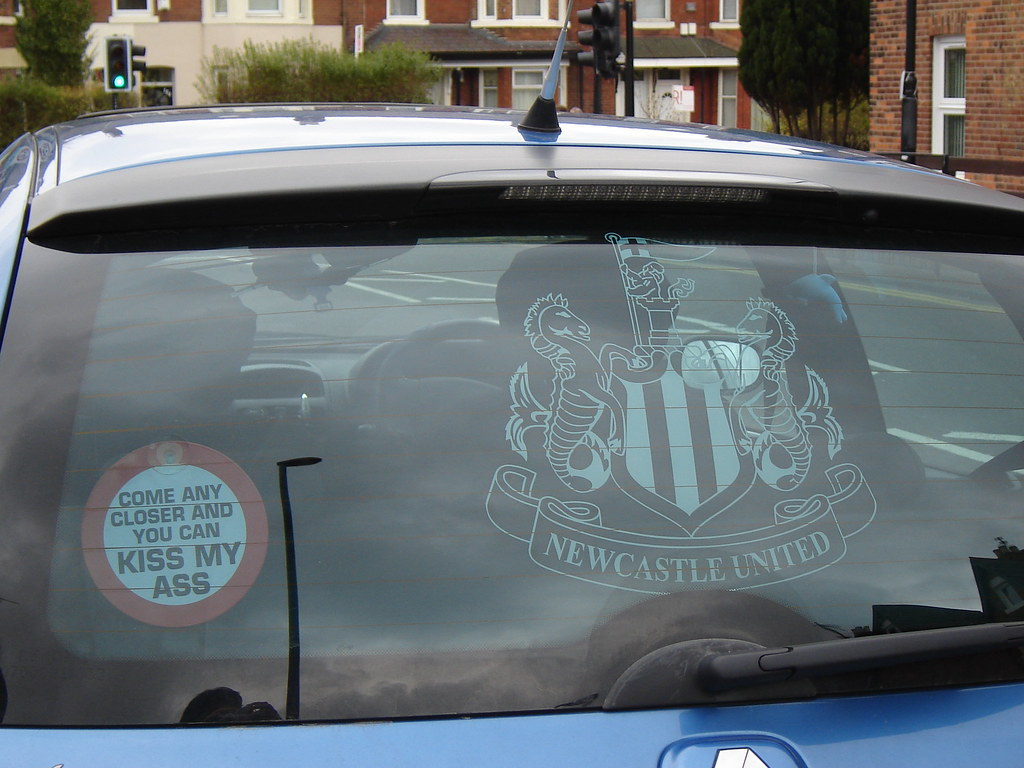 Newcastle United Car Window Screen Heaton So Proud Of