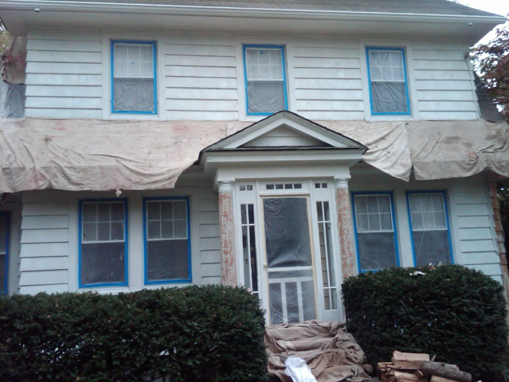 Primer Painting Cedar Siding In Maplewood New Jersey Flickr