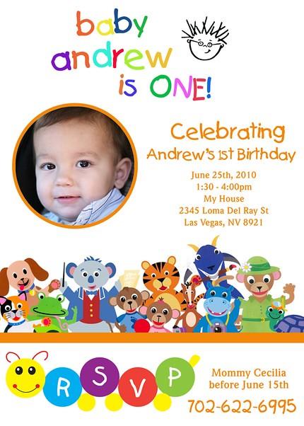 Baby Einstein First Birthday- Custom Birthday Invitation ...