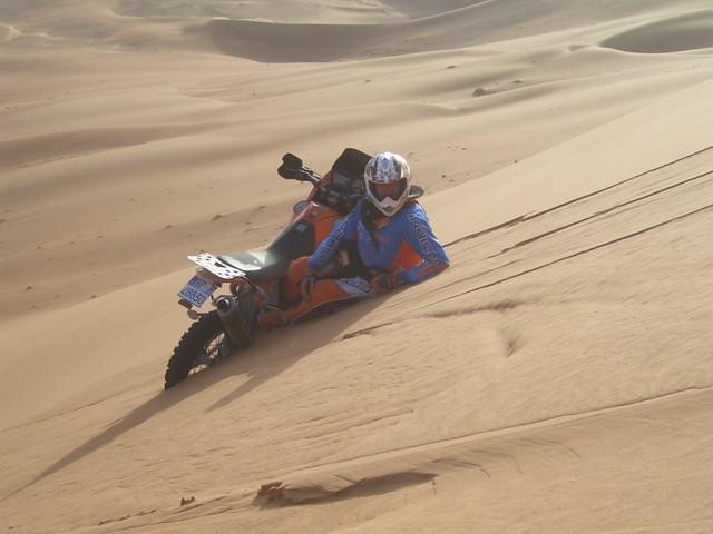 Nel Deserto Moto Nel Deserto Del