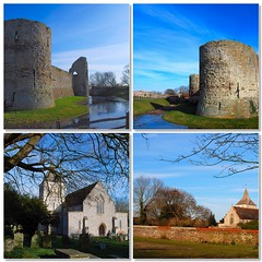 Pevensey - William the Conqueror's First English Castle - and St Mary's Church (4)