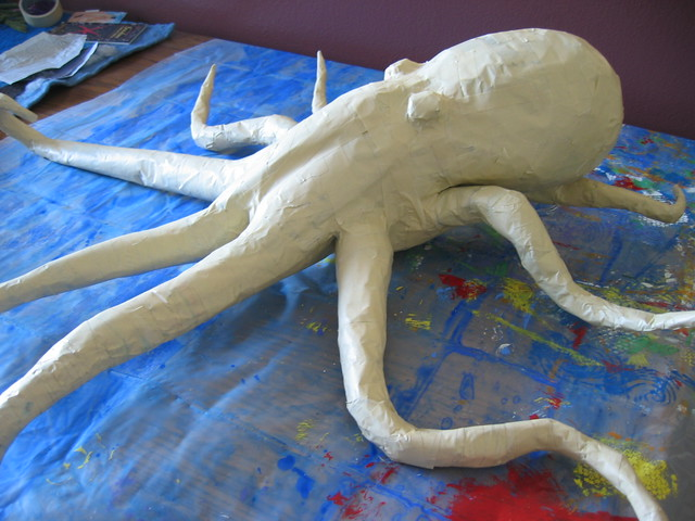 octopus form created this form out of newsprint and