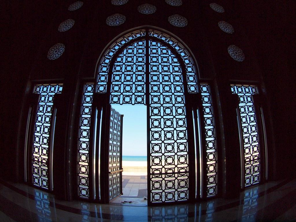 A Door Facing The Sea Is Seen Open As It Was Left By Worke
