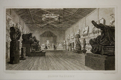 Engraving Of The British Museum S First Display Of The Elg