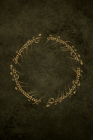 Lord Of The Rings Inscription Wallpaper