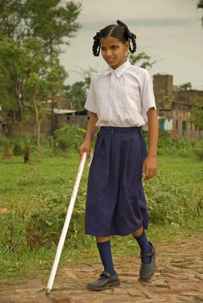 Aprahensive Nitu During Mobility Training Bihar
