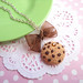 Choco Chips Cookie Necklace