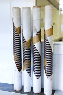 Chocolate stripes set into heavy tubes to create chocolate spirals | by thewanderingeater