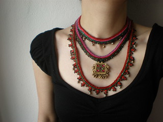 Old World - Myriad ... Freeform Beaded Crochet Necklace | by irregular expressions