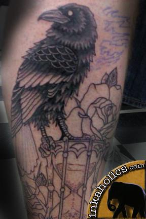 inkaholics bird raven tattoo perris moreno valley ca river