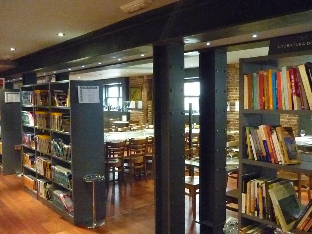 Madrid librer a caf bistrot fuentetaja en la calle de s flickr - Libreria universitaria madrid ...