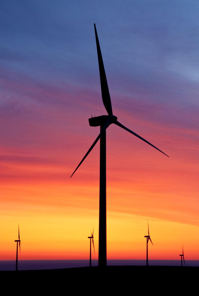 Wild Horse Wind Turbines At Sunrise The Wild Horse Wind