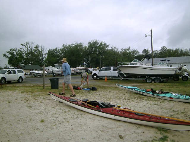Loading up at Monroe Bay Campground, Colonial Beach