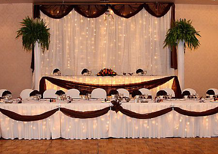 Beau ... Elegant Head Table Backdrop | By Camelot Special Events