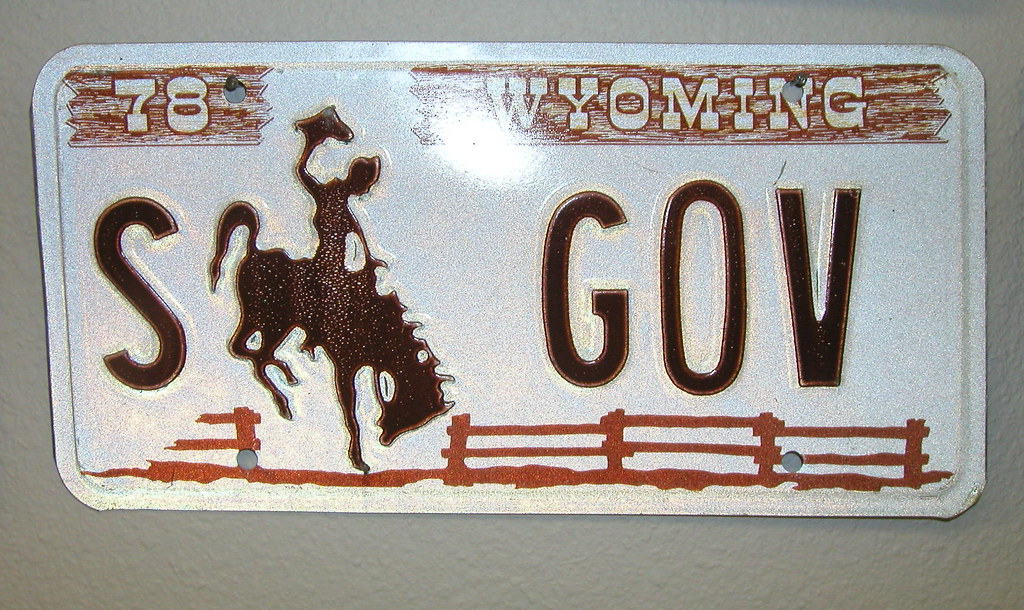 License Plate Camera >> 1978 Wyoming Sample License Plate Governor | carfull...in Wyoming | Flickr