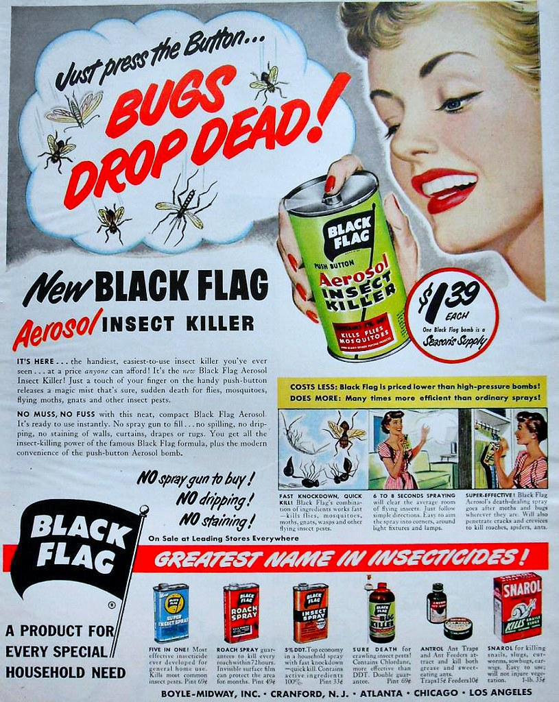 1940s 1950s BLACK FLAG INSECT and PEST KILLER color vintag… | Flickr