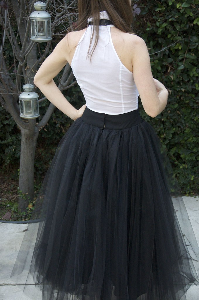 Stunning Long Black Tulle Skirt
