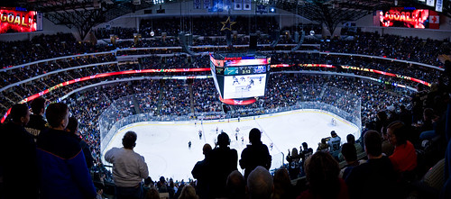Panorama—Stars vs NY Islanders at American Airlines Center | by handcoding