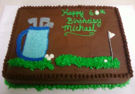 Golf Birthday Cake Images