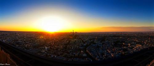 Panorama couch de soleil sur paris giz 39 675 flickr - Coucher de soleil sur paris ...