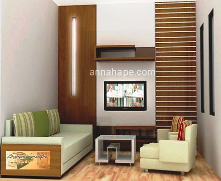 desain ruang keluarga + ruang tamu apartemen - rumah tipe
