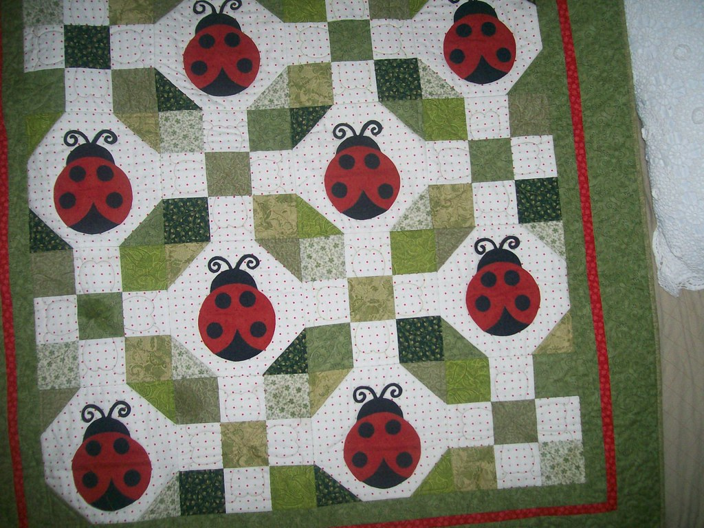 135 ladybug quilt I made for a friend, lisabwln Flickr