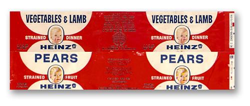vintage 1960 s heinz baby food jar labels gregg koenig flickr