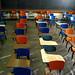 UF Norman Hall Classroom Desks Old Norman Orange and Blue