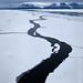 Ice lead, Dijmhna Sund, Nioghalvfjerdsfjorden, Greenland