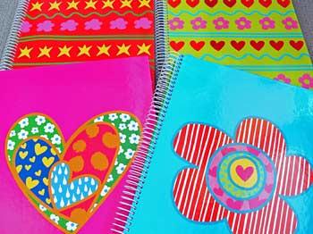 Agatha ruiz de la prada a4 notebooks can be found at www for Carrelage agatha ruiz dela prada