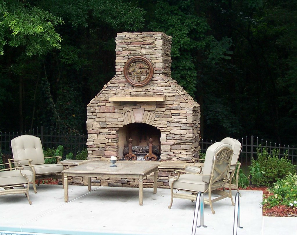 Charlotte Outdoor Fireplace This Charlotte Area Outdoor