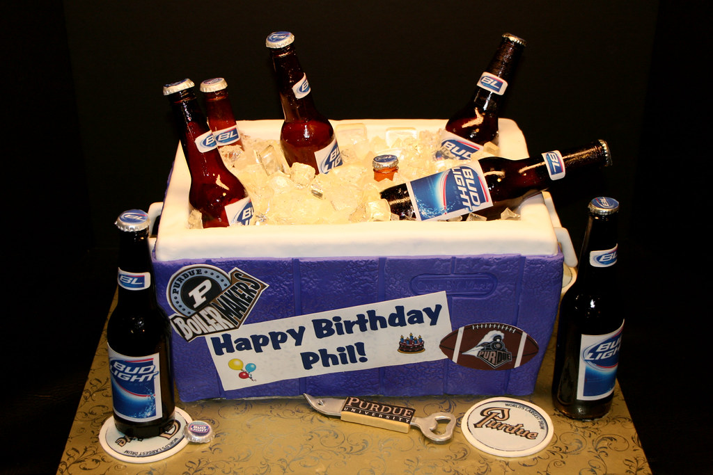 Beer Cooler Surprise Birthday Cake Chocolate Cake