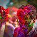 Holi festival : red to the head