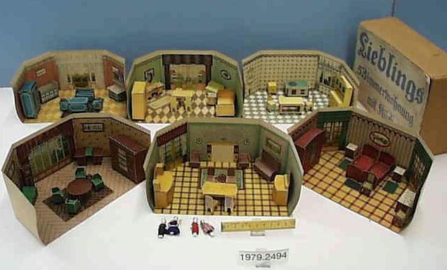 1925 puppenstuben aus bastelb gen puppenhaus aus pappe au flickr. Black Bedroom Furniture Sets. Home Design Ideas