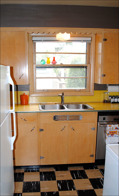 1950s Mid Century Portland Ranch Kitchen Original Except F Flickr