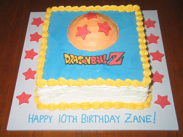 Dragon Ball Z Cake Dragon Ball Z theme birthday cake for t Flickr