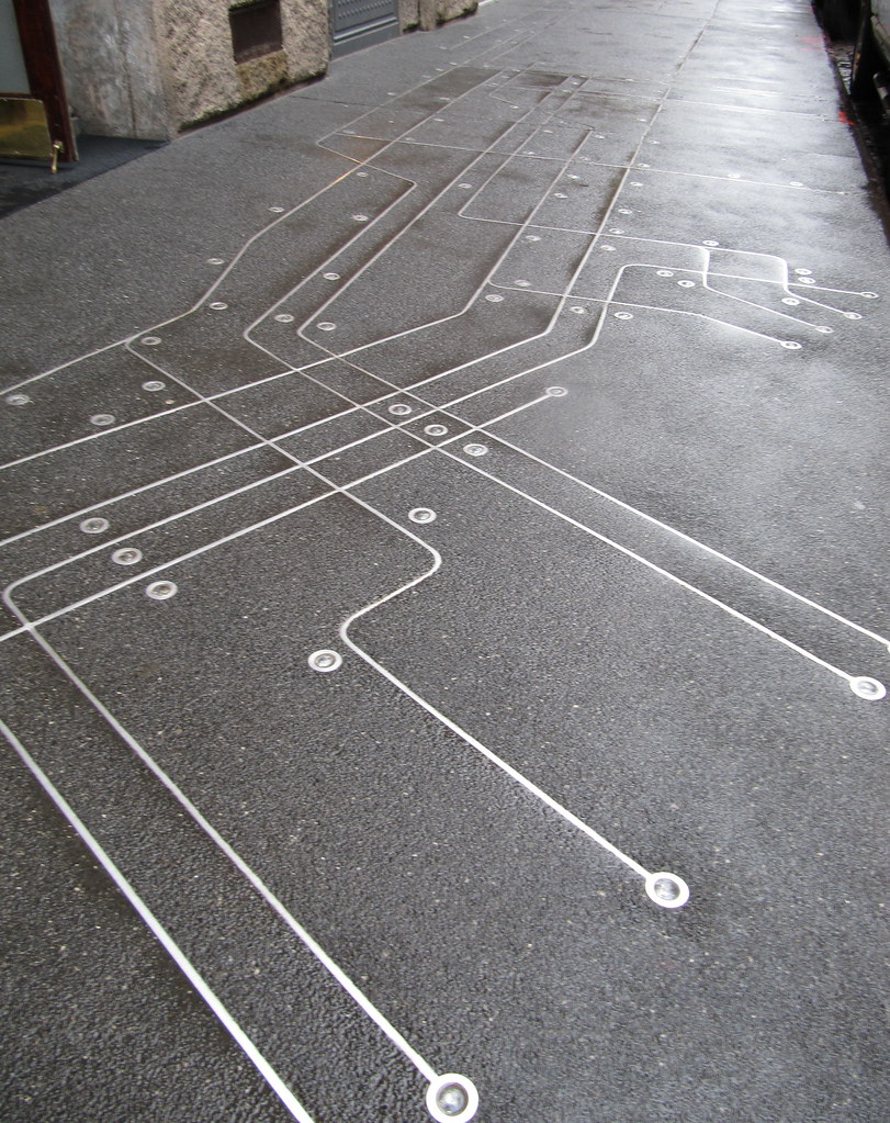 Subway Map Floating On A New York Sidewalk.Subway Map Floating On A New York Sidewalk Francoise S Flickr