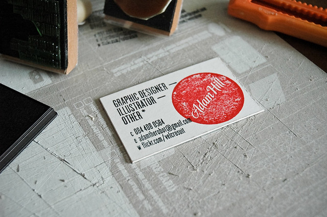 Business card part 2 i had two stamps made i use any for Uiuc business cards